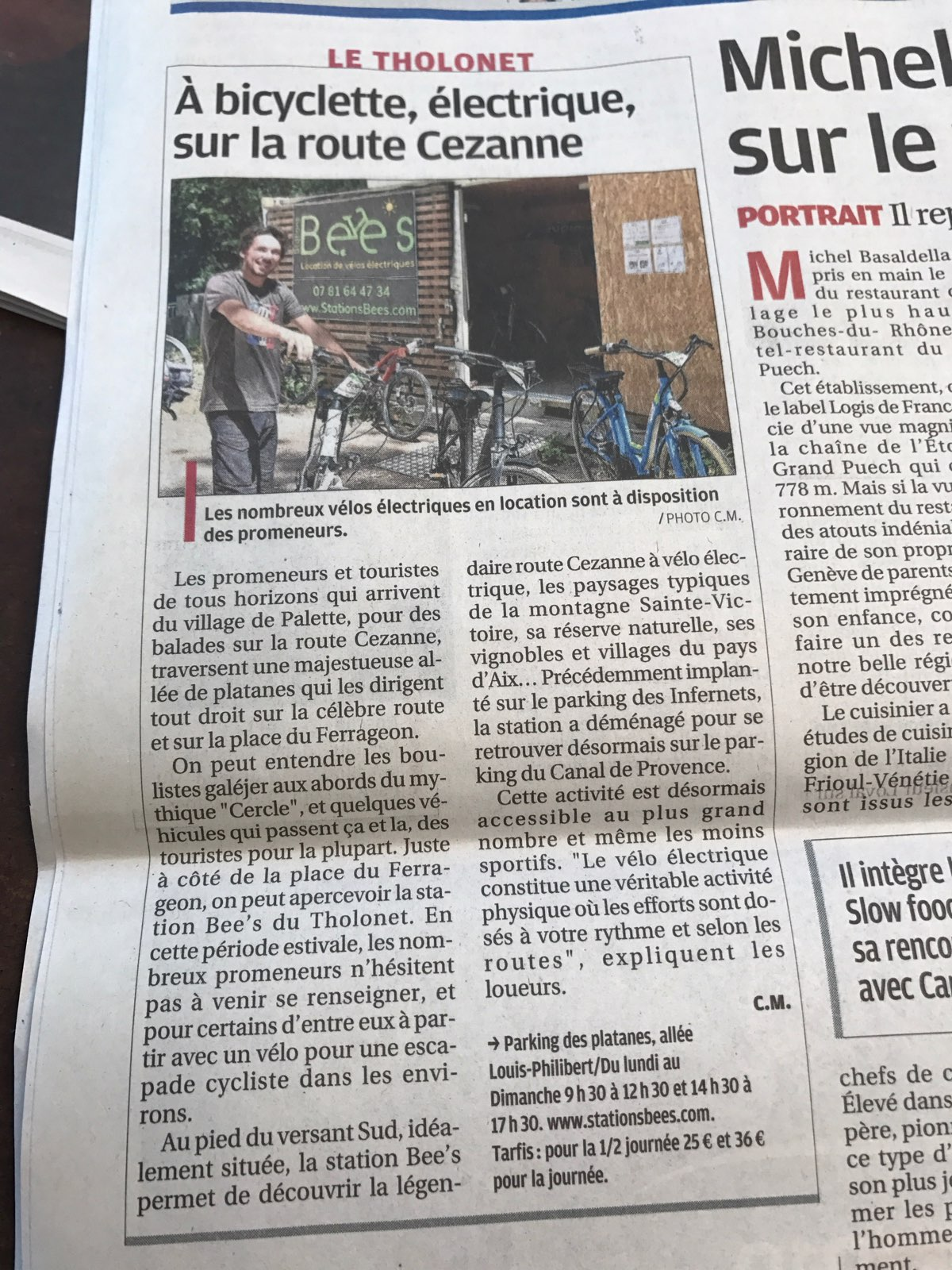 article journal la provence 31 aout 2019 _ stations bees