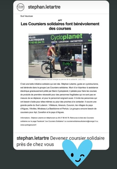 coursiers solidaires triporteur cycloplanet